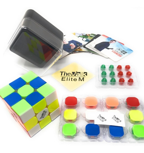 cubo mágico 3x3x3 qiyi valk 3 elite m magnético colorido
