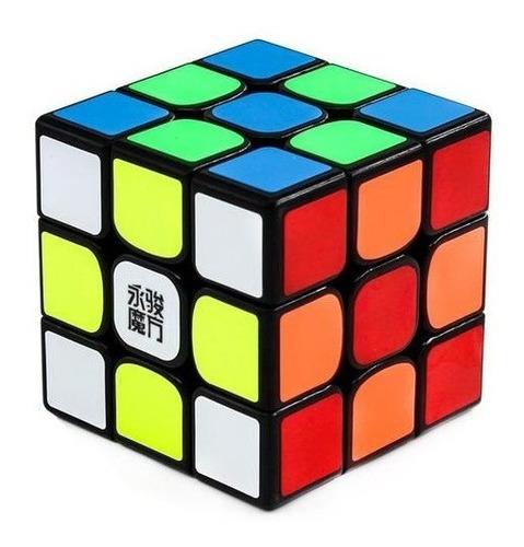 cubo mágico 3x3x3 yj moyu yulong v2 magético preto