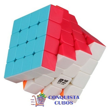 cubo mágico 4x4x4 profissional qiyi qiyuan s colorido