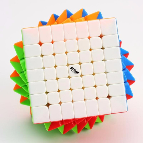 cubo mágico 7x7x7 qiyi wuji colorido profissional original
