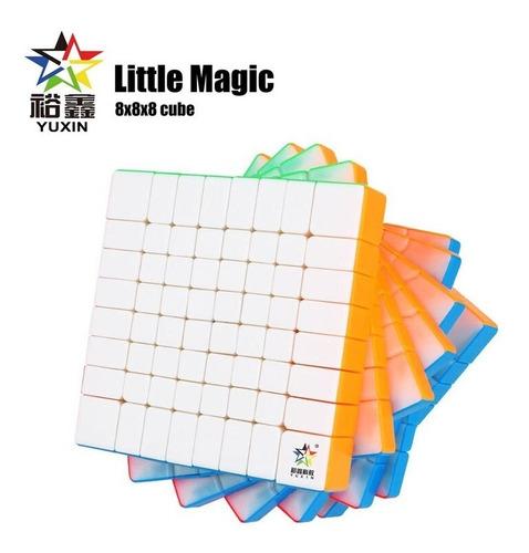 cubo mágico 8x8x8 yuxin little magic colorido pronta entrega