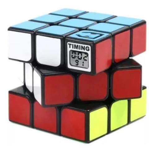 cubo magico cube magic 3x3 tipo rubik contador tiempo full