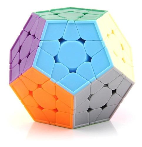 cubo mágico megaminx yuxin little magic v2 colorido