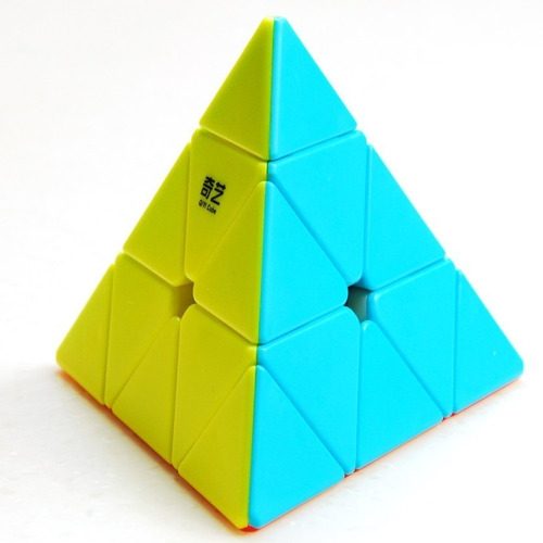 cubo mágico puzzle pyraminx qiyi qiming colorida pirâmide