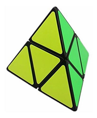 cubo magico puzzle shengshou pyramorphix 2x2 base negra