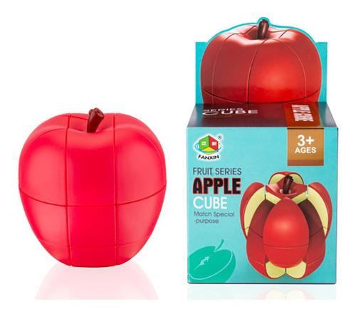 cubo magico série frutas - formato maça 3d