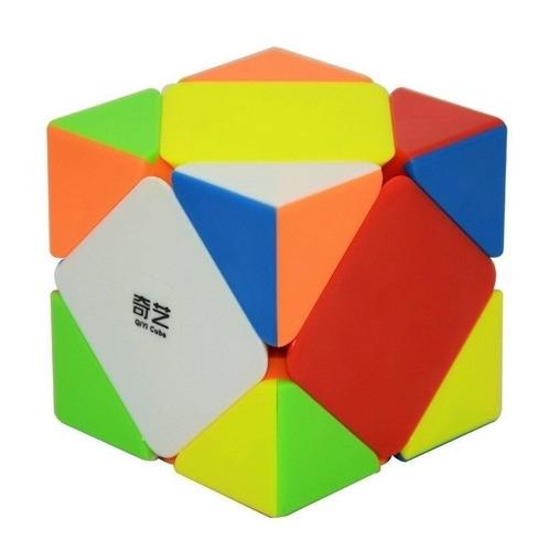cubo mágico skewb qiyi qicheng colorido modalidade wca