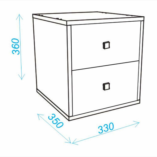 cubo makenna bcb 01-138 roble con acuamarine