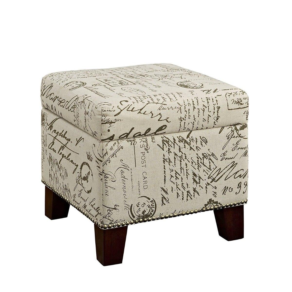 Lujo Muebles Cubo De Almacenamiento Otomana Friso - Muebles Para ...