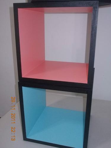 cubo repisa flotante, modulo4, sin grampas a la vista.oferta
