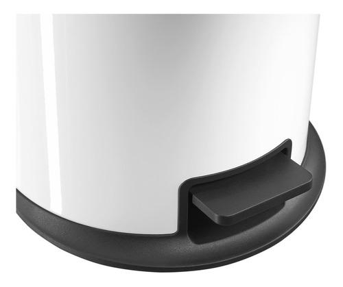 cubo residuos hailo 12 lts, cierre soft negro design pure m