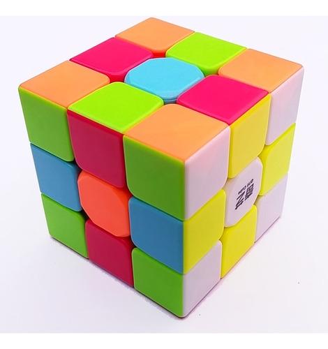 cubo rubik 3x3 qiyi warrior w + base + lubricante gan