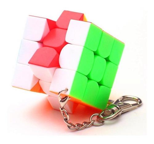 cubo rubik llavero moyu 3x3 stickerless 3.0