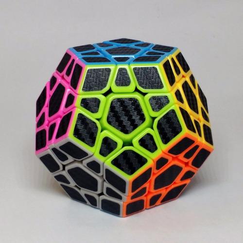 cubo rubik megaminx magic cube fibra carbono