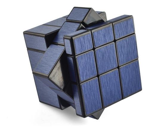 cubo rubik qiyi 3x3 mirror azul magic cube wiredrawing
