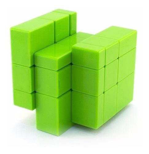 cubo rubik qiyi 3x3 mirror magic cube stickerless verde