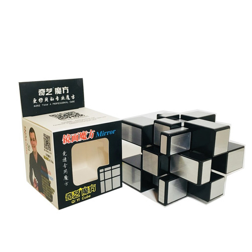 cubo rubik qiyi mirror 3x3 speed plateado original