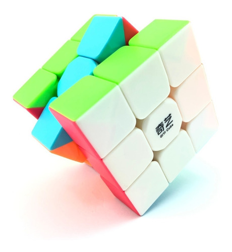 cubo rubik qiyi warrior w stickerless speed 3x3 original