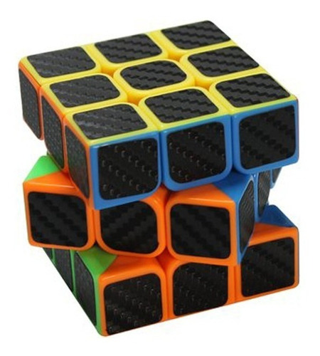 cubo rubik rompecabezas cubo rubik mágico carbono 3x3