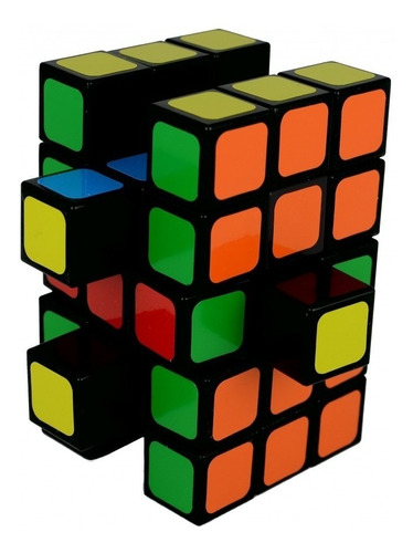 cubo rubik - witeden 3x3x5 cuboide black + base - belgrano