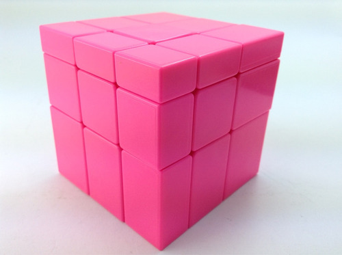 cubo rubik yuxin mirror rosa stickerless lubricado