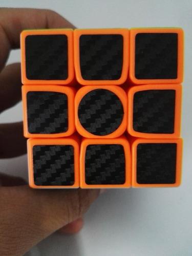 cubo rubik z cube fibra de carbono 3x3 speedcube profesional