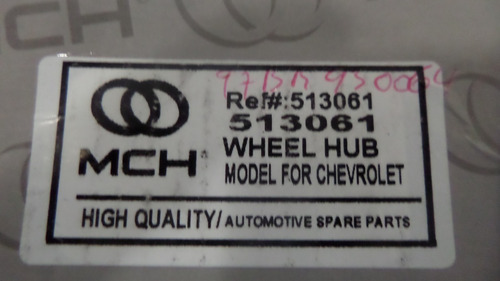 cubo rueda mozo delt chevrolet blazer 4x4 c/abs 91-97