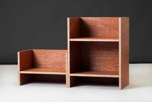 cubo taburete modular organizador diseño moderno