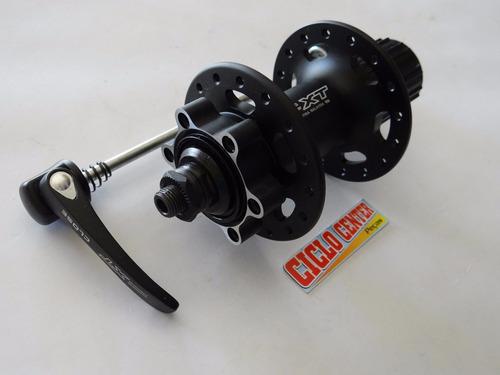 cubo traseiro shimano deore xt m756 disco parafuso 32 furos