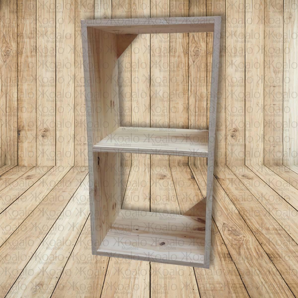 Cubo X2 Fabricado En Pino Para Organizar Koalo Muebles 340  # Organizar Muebles