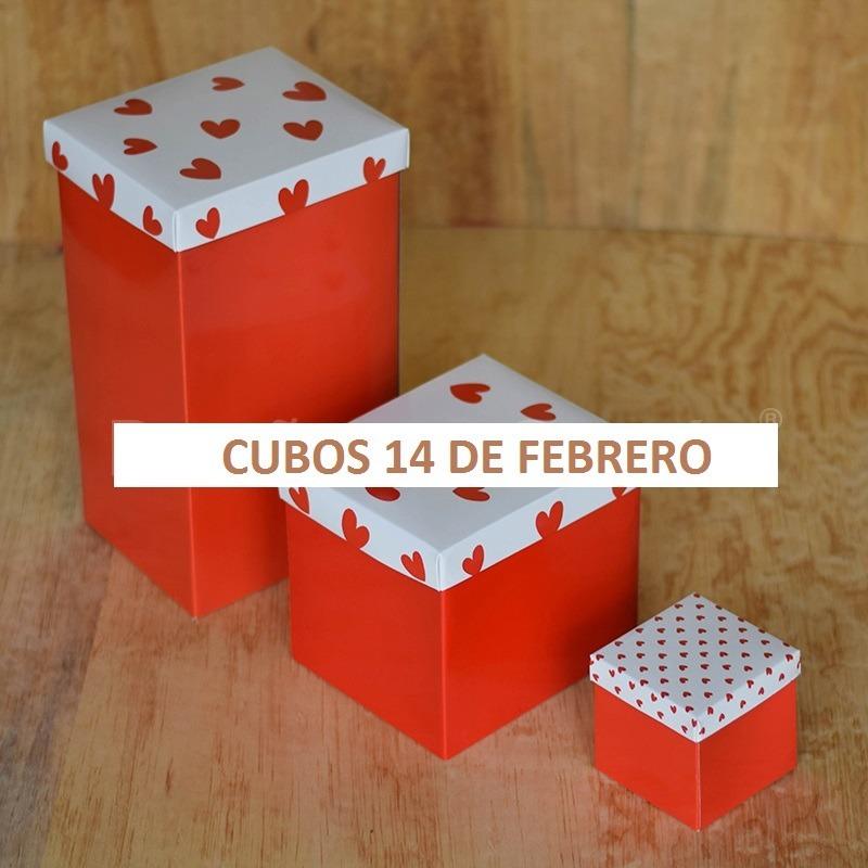 Cubos 14 de febrero caja de regalo paq con 30 pzas for Regalo muebles usados