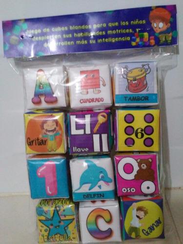 cubos a color  blandos interactivos juego niños
