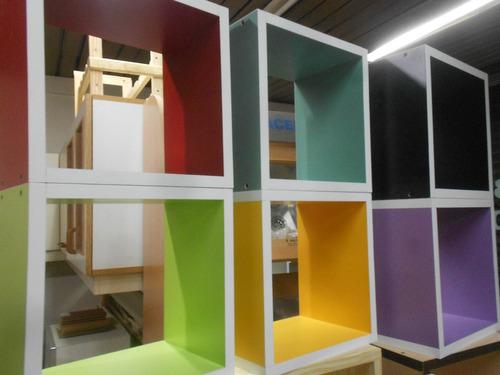cubos biblioteca muebles