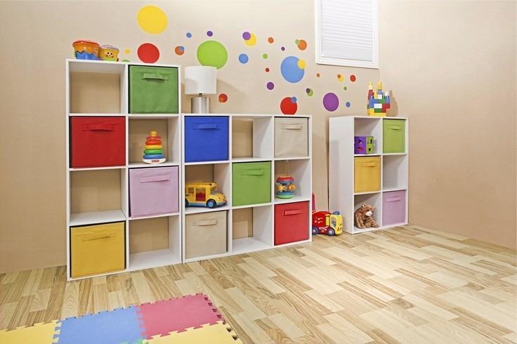 Cubos Biblioteca Organizador Guarda Juguetes Modulo Infantil - Muebles-para-juguetes-nios