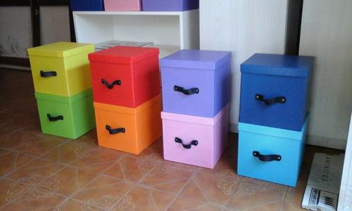 cubos - cajas - organizador - decoración - guarda juguetes