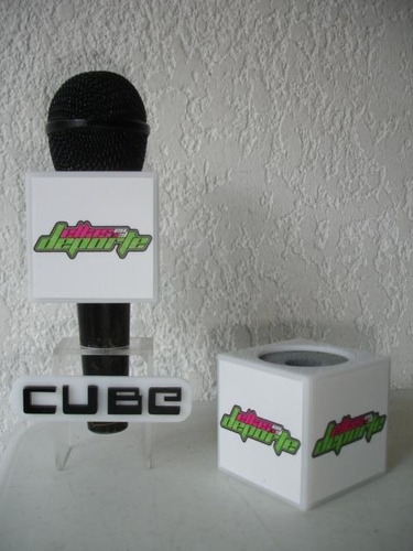 cubos chico para microfono rotulado