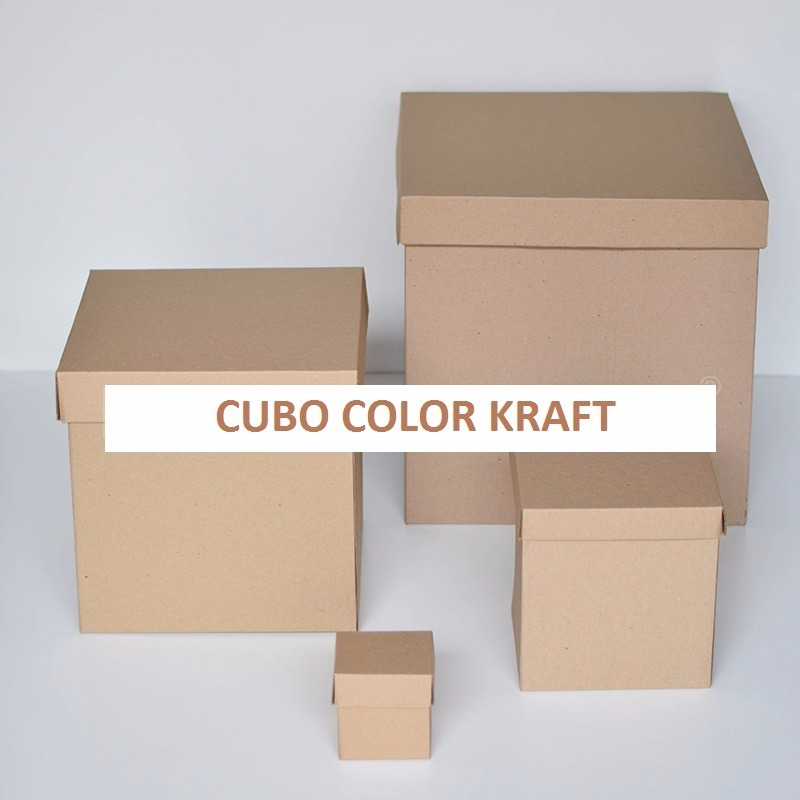 Cubos de carton cubo kraft caja de regalo paq de 15 pzs for Cajas de regalo de carton