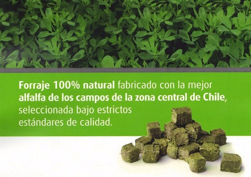 cubos de heno de alfalfa para roedores pack 600g / pharmavet