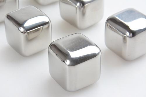 cubos de hielo acero inox set x 8 hielos para vino whisky
