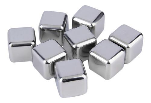 cubos de hielo acero inoxidable set x 4 hielos bebidas