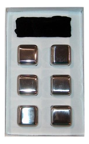 cubos de hielo acero inoxidable set x 6 vino whisky bebidas