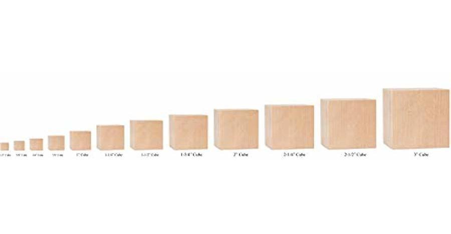 para pintar y decorar Bloques cuadrados de madera Cubos de madera hacer manualidades y proyectos de bricolaje hacer rompecabezas bloques de abedul de madera cuadrados en blanco sin terminar