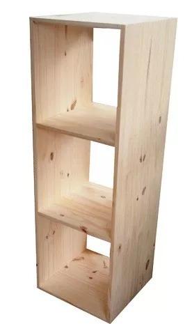 cubos de madera pino x 3 vertical medidas 120 x 40 x 30 cm