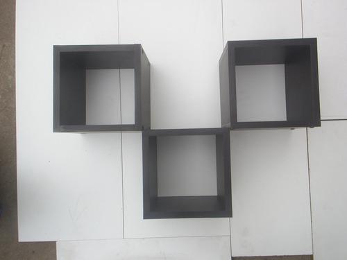 cubos de melamina decorativos 20x20x20cmt mas repisa plana