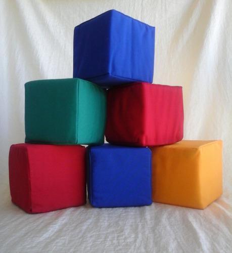 cubos de polyfom forrados en tela