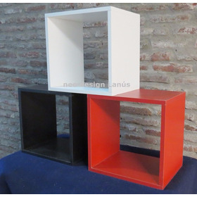 Cubos Decorativos Melamina 18mm - Fabricante Lanus-  Sur Gba