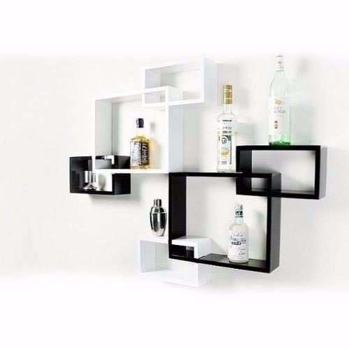 Cubos entrelazados repisas minimalista a reos mueble for Mueble de 5 repisas