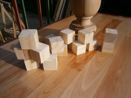 cubos madera maciza pino cepillado 7 x 7 x 7 cm souvenirs