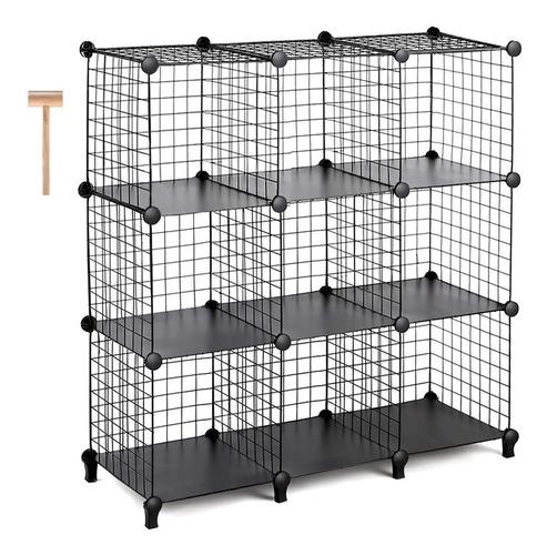 cubos metálicos modulares organizador oficina hogar 9 cubos
