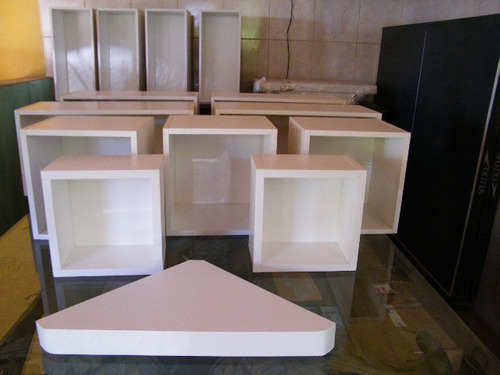 cubos nichos prateleiras com suporte invisível - sob medida